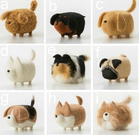Wool Needle Felt Faceless Dog For Diy Handmade Kit Package In 2020 Felt Animals Needle Felted Animals Needle Felting Projects