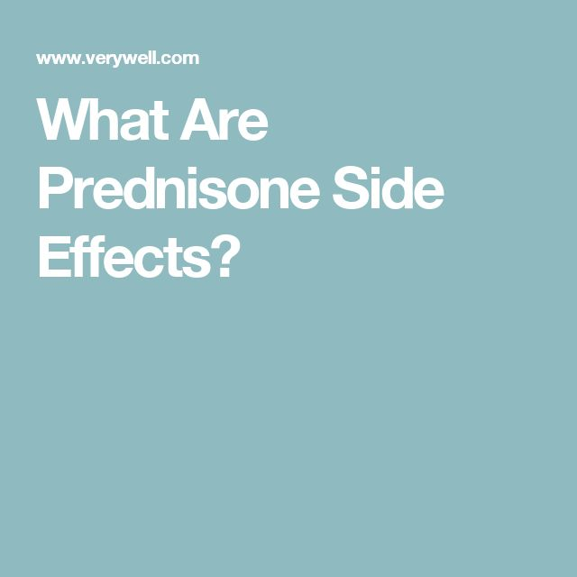 What Are Prednisone Side Effects?