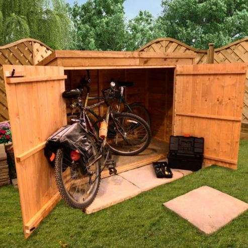 BillyOh 30 3 x 6 Pent Overlap Bike Store Mini Shed