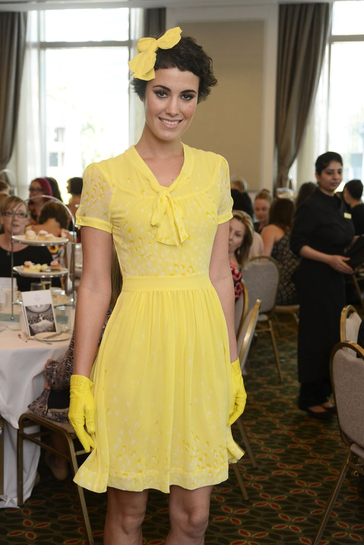 A pretty yellow frock by Alannah Hill
