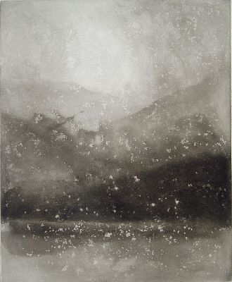 Norman Ackroyd - Evening Snow, Coniston, 1999 Etching