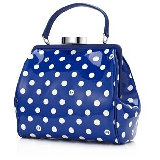 Dot print patent leather small Eva bag from Lulu Guinness