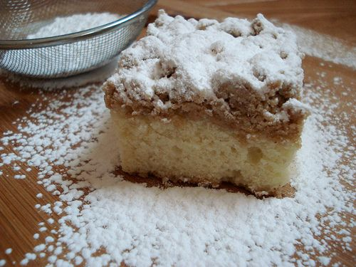 ☕ & New York-Style Crumb Cake - America's Test Kitchen - my favorite!  Love eating those delicious crumbs!