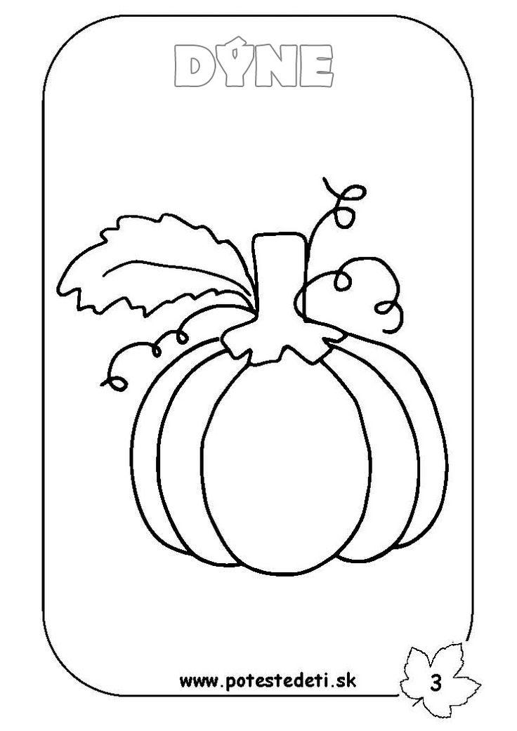Sklizeň plodů podzimu | Předškoláci - omalovánky, pracovní listy