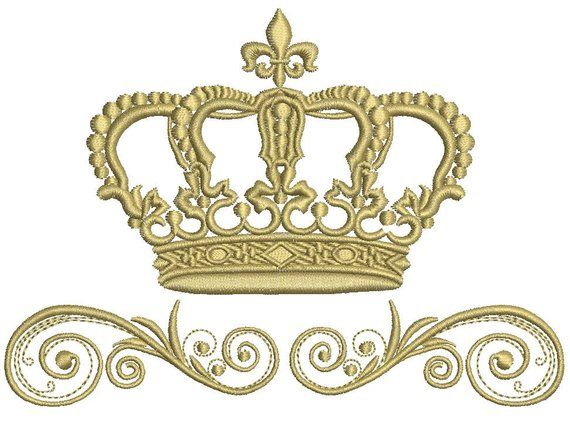 Shied Frame embroidery designs frame embroidery design machine Crown embroidery pattern file instant download baby embroidery design