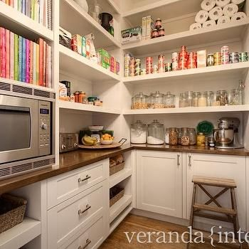 Walk In Pantry Ideas.  In my next life, my whole house will be this neat and organized