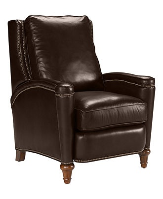 Rutherford Leather Recliner Chair - Chairs - furniture - Macy's