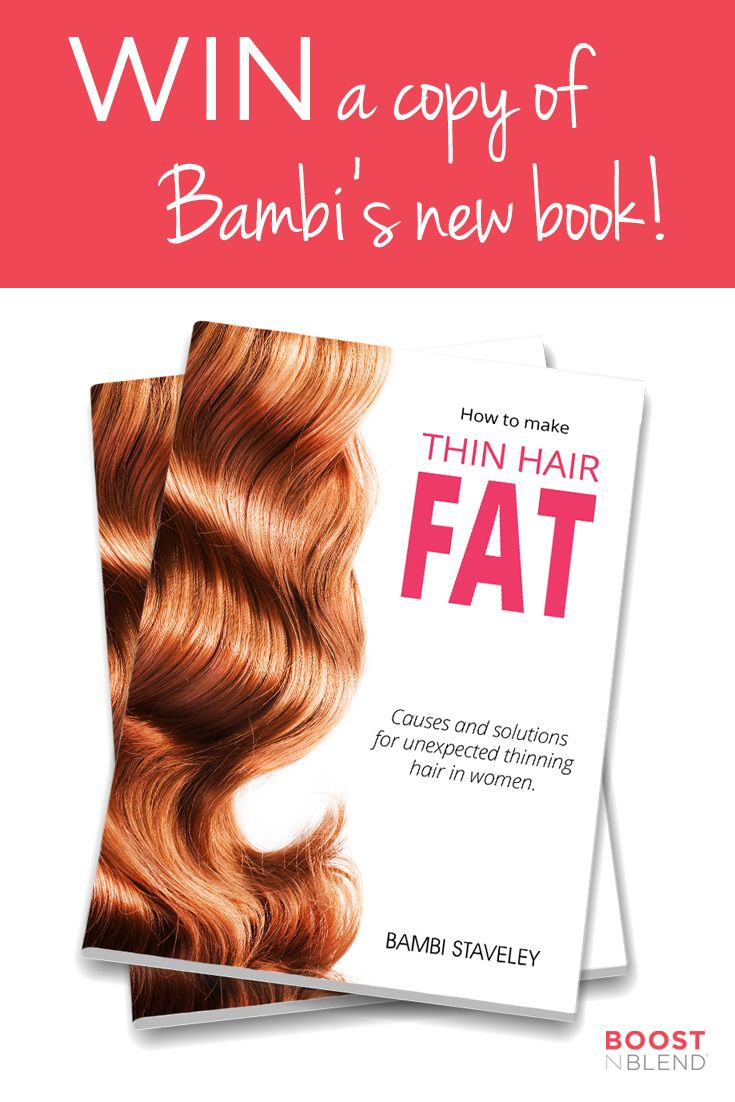WIN your own copy of HOW TO MAKE THIN HAIR FAT! We're giving away one copy of Bambi's new book on our Facebook page to help solve your hair woes! Follow the instructions here to WIN your very own copy: http://bit.ly/BNBBookComp It's a must-read for anyone with fine, thin or thinning hair. Winner announced on Friday afternoon so get in quick!