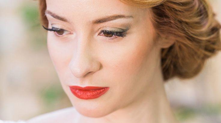Bold red lips by #antigonilivieratou