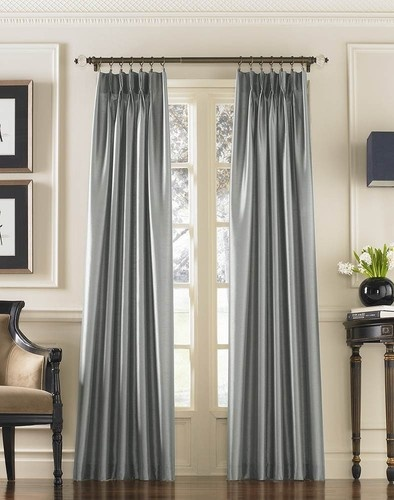 Marquee Shimmering Faux Silk Pinch Pleat Drape traditional curtains