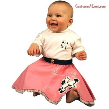 Poodle Skirt and Onesie...CUTE!