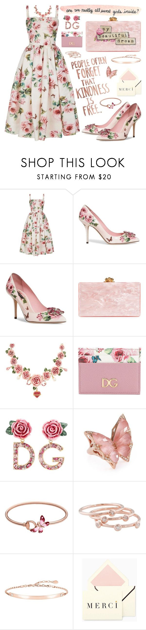 """""""Kindness is Free"""" by shannon-brennan ❤ liked on Polyvore featuring Dolce&Gabbana, Edie Parker, Stephen Webster, Gucci, London Road and Thomas Sabo"""