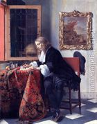 Man Writing a Letter 1662-65  by Gabriel Metsu
