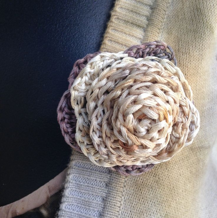 Image of eco dyed rose brooches 5-6 - made by rita summers