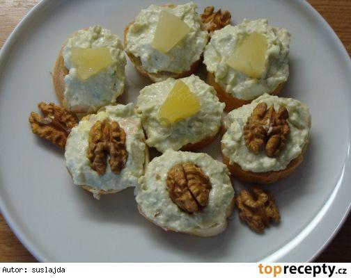 Sýrová pomazánka s avokádem