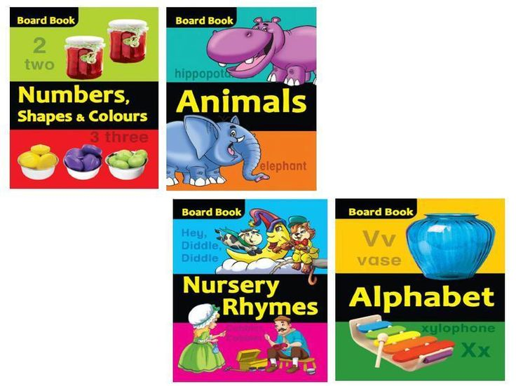 Nursery Rhymes Numbers Shapes Alphabets Reading Books Toddlers Christmas Gift #BoardBooks