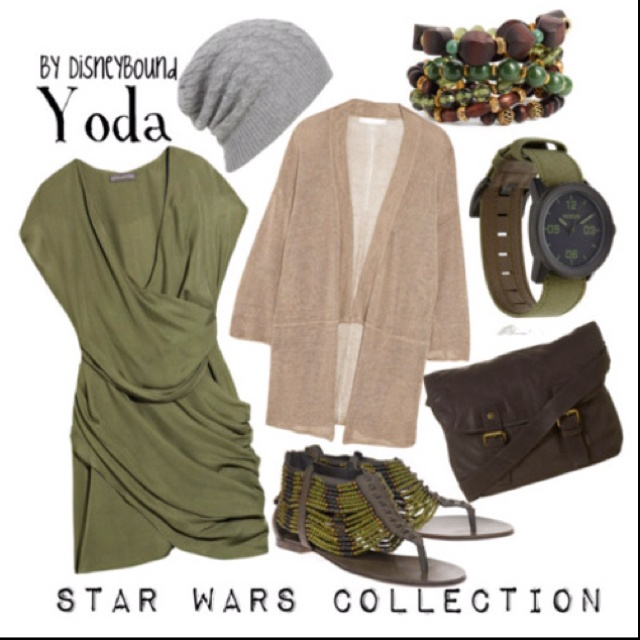 DisneyBound Disney inspired fashion!! LOVE IT!!! Yoda