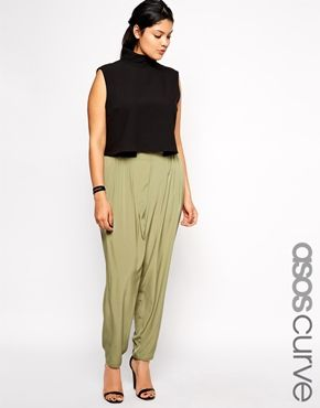 Enlarge ASOS CURVE Pant With Elastic Waist Detail