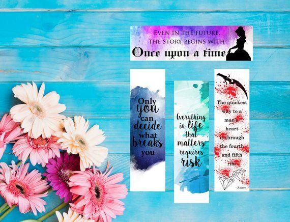 Fandom Instant Digital Download Set Of 4 Bookmarks Acotar