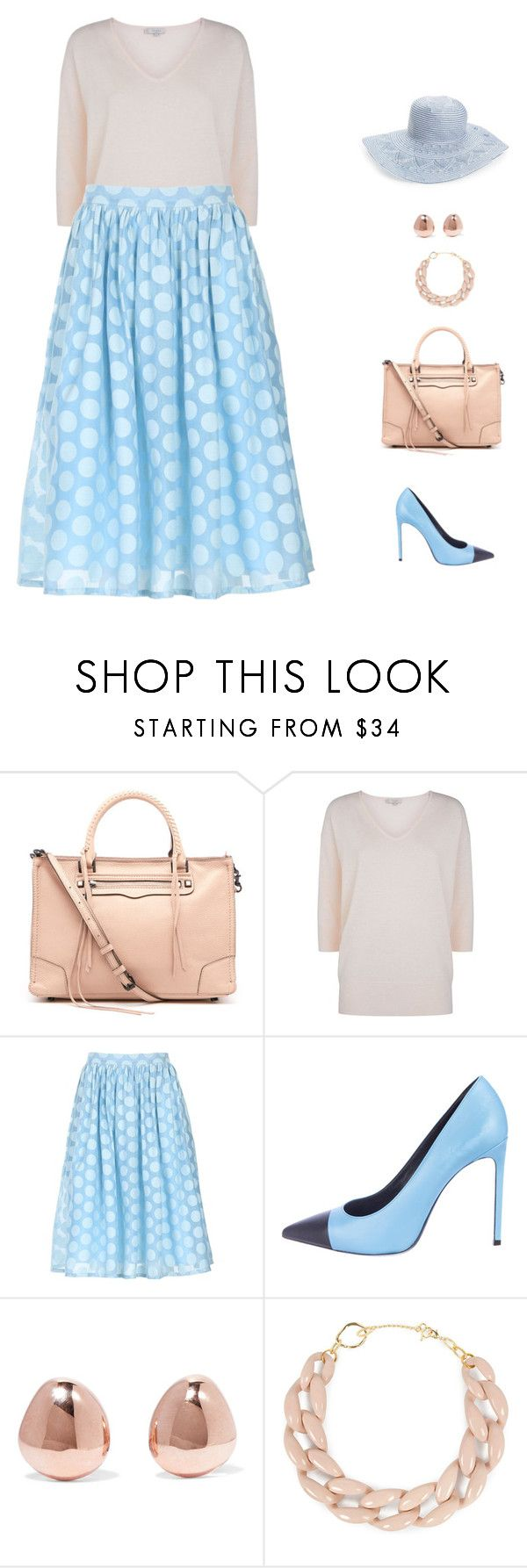 """elegance"" by candynena228 ❤ liked on Polyvore featuring Rebecca Minkoff, Hobbs, Izabel London, Yves Saint Laurent, Monica Vinader, DIANA BROUSSARD and Hinge"