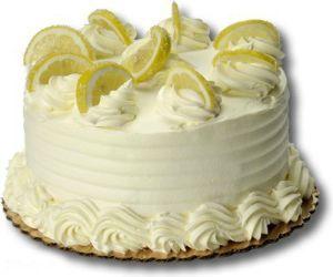 Лимонный торт с шампанским