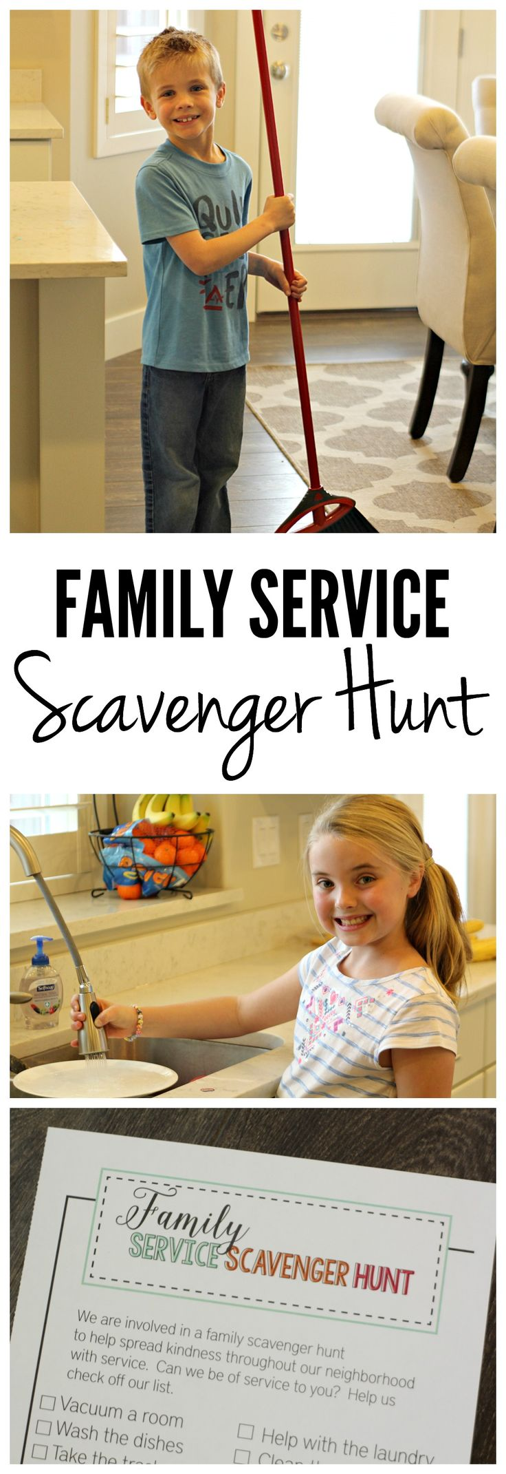 Family Service Scavenger Hunt on SixSistersStuff.com