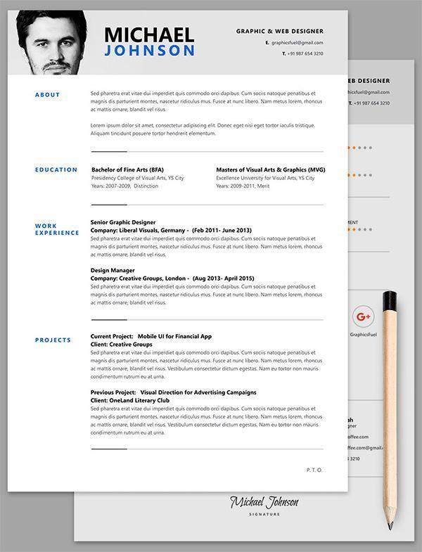 Curriculum Vitae editable en formato PSD (Photoshop)