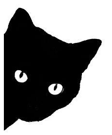 cat face silhouette | Q499 Black cat face