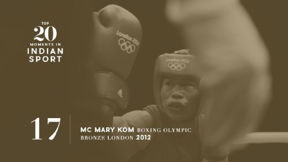 17: Mary Kom boxes her way into history in London - The five-time world champion's 2012 Olympic bronze boosted the sport's profile and inspired a movie.Source:  JACK GUEZ/AFP/GettyImages   www.piclectica.com #piclectica