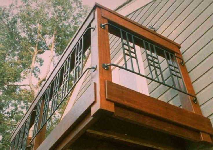 Ipe Framed Railing With Craftsman Metal Panels Metal