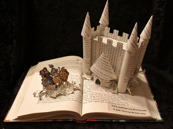 Welcome to Oz Book Sculpture by Jodi Harvey-Brown