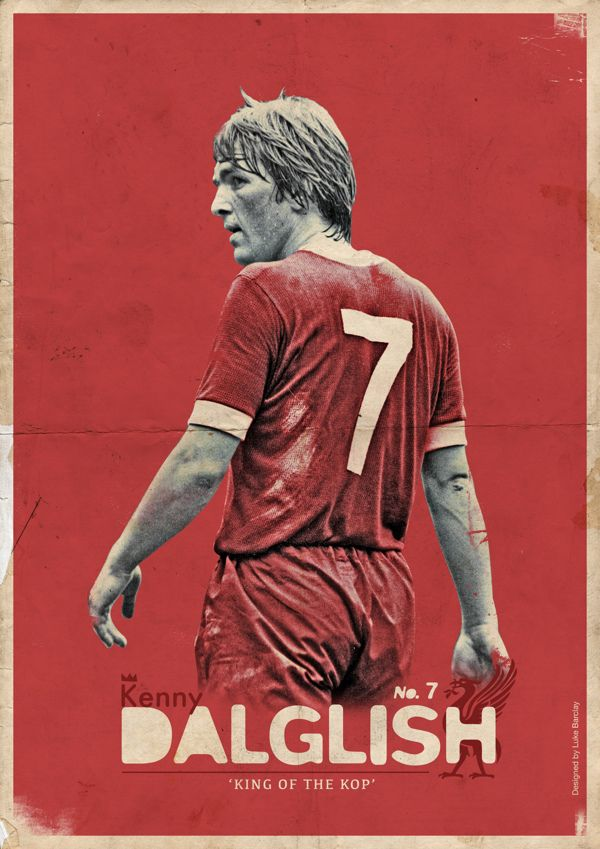 Posters de fútbol: Dalglish por Luke Barclay, via Behance