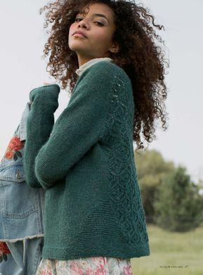 Пуловер с ажурной спинкой спицами. Обсуждение на LiveInternet - Российский Сервис Онлайн-Дневников