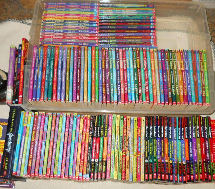 Huge lot 1-62 GOOSEBUMPS books + 41 Extra R.L.STINE Books Complete Set Series