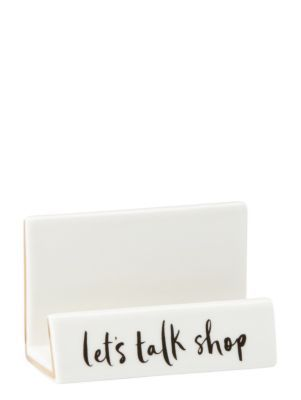 daisy place let's talk shop business card holder - kate spade new york
