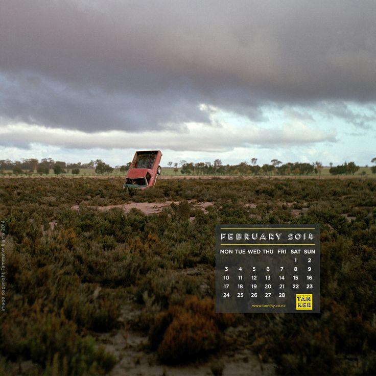 February 2014 iPad format Desktop Calendar, photography by Tammy Williams, www.tammy.co.nz