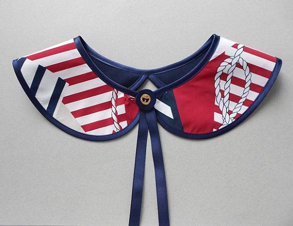 Nautical Style Detachable Handmade Collar Necklace / by BlumArt, $36.99