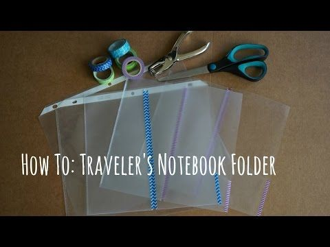 How to: DIY Traveler's Notebook Clear Folder - YouTube