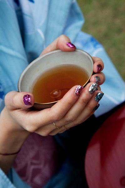 super glitter: Dense Glitter, Glitter Nails, Afternoon Tea, Beauty, Fashion Nails, Sparkle Tea, Hair