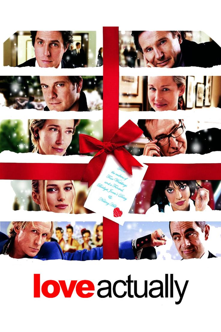 Name: Love Actually (2003). IDMb rating: 7.7/10. Genre: Romantic comedy. Description: Follows the lives of eight very different couples in dealing with their love lives in various loosely interrelated tales all set during a frantic month before Christmas in London, England.