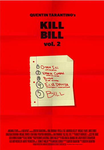 Kill Bill: Vol. 2 (2004) ~ Minimal Movie Poster by Stefano Pellegrini ~ Tarantino Series #amusementphile