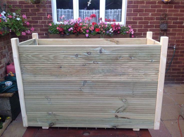 Wooden Planter Wooden Trough 1M Long Extra Deep Wide 400 x 300