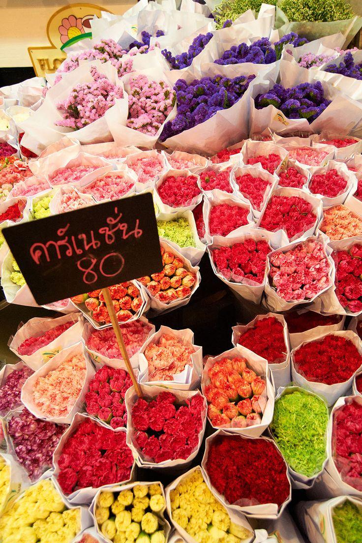 To see something colourful - visit flower market at night! >> Pak Klong Talad (Flower Market), Bangkok, Thailand