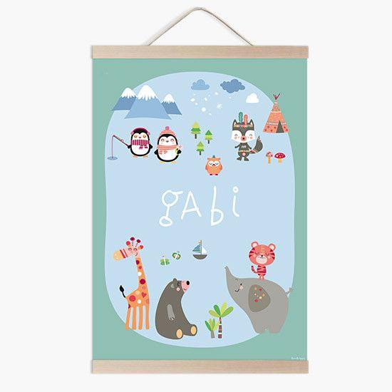 Lámina infantil mapamundi animal a conjunto con tu vinilo infantil mapamundi a la venta en la tienda online de vinilos infantiles.