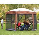 Instant 12ft x 10Ft Hexagon Screened Canopy Gazebo with Removable Insect Screen on eBay for $259.99
