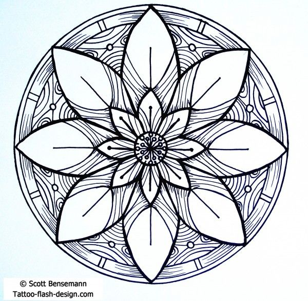 Perfect lotus flower mandala