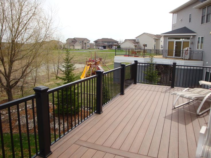 Low maintenance decking and railing in plymouth mn decks for Landscaping rocks new plymouth