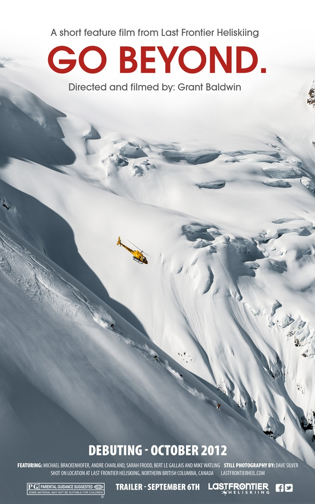 Teaser poster for our new heliski video premièring this fall. #heliskiing #heli-skiing #poster #movie #skiing #snowboarding #adventure #travel #Canada #bc