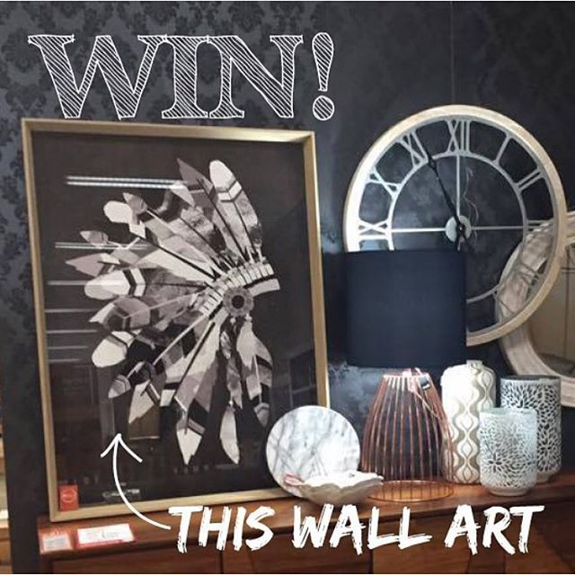 Its Giveaway Time Again To WIN Our Indian Headdress Wall Art Pictured Here Enter Good LuckHeaddressDesign