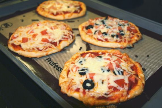 Mini pizzas made with biscuit dough.